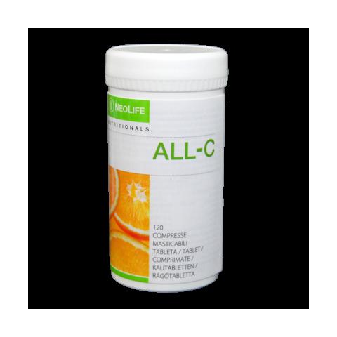 All-C di GNLD integratore alimentare naturale di vitamina C in compresse masticabili con bioflavonoidi degli agrumi