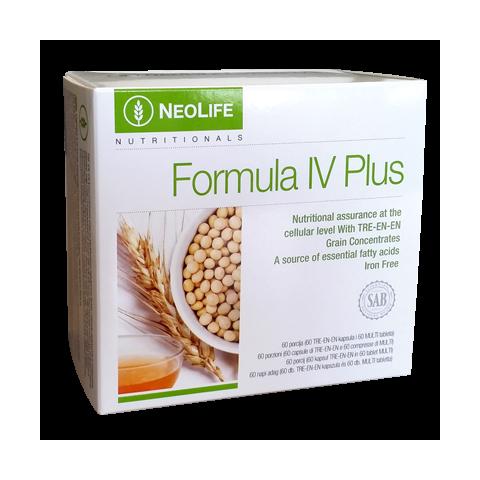 Formula IV Plus di GNLD integratore naturale multivitaminico, minerali, lipidi e steroli da oli di grani integrali senza ferro