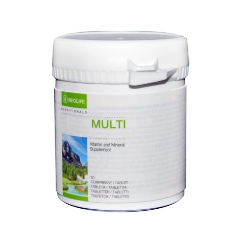 Multi di GNLD integratore alimentare naturale multivitaminico vitamina A B C D E, minerali, oligoelementi. Non contiene ferro