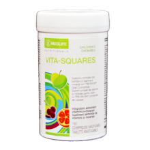 Vita-Squares NeoLife GNLD integratore naturale multivitaminico per bambini vitamine minerali essenziali dolcificato naturalmente
