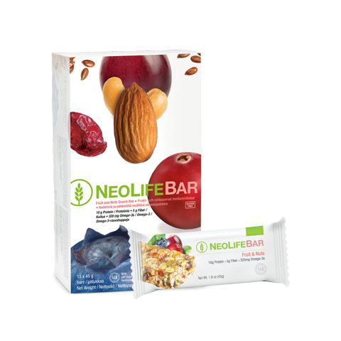 NeoLife Bar di GNLD barretta energetica con proteine, fibre, omega-3, 17 vitamine, da cereali, semi, frutti di bosco. No glutine
