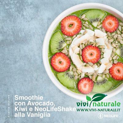 NeoLifeShake ricetta con avocado e kiwi