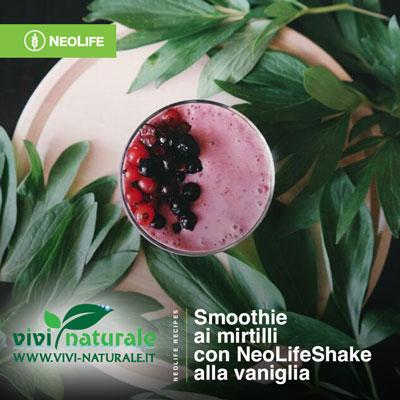NeoLifeShake ricetta con mirtilli
